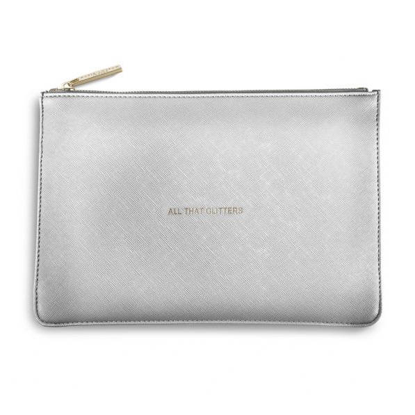 Katie Loxton Perfect Pouch - Metallic Silver All That Glitters klb042