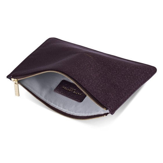 Katie Loxton Perfect Pouch Happy Hour Shiny Burgundy open
