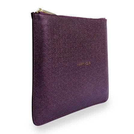 Katie Loxton Perfect Pouch Happy Hour Shiny Burgundy side
