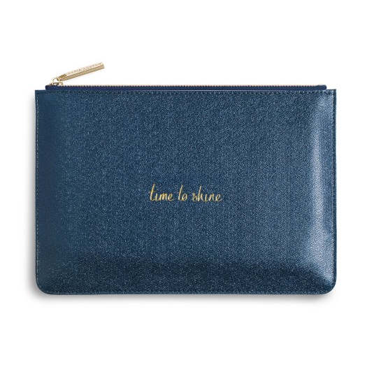 Katie Loxton Perfect Pouch Time To Shine Shiny Sapphire front