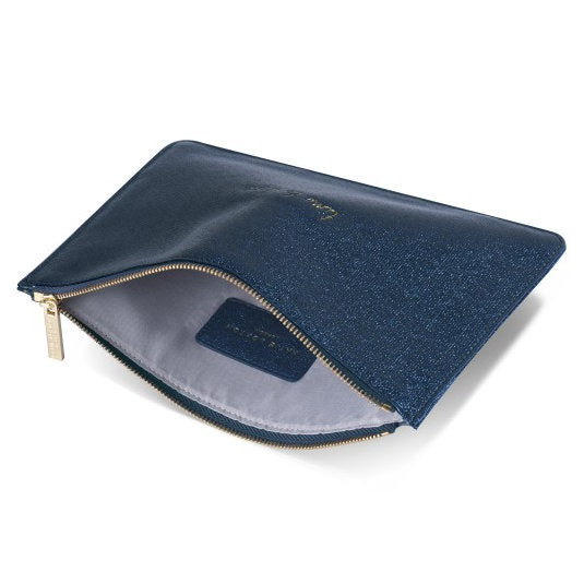 Katie Loxton Perfect Pouch Time To Shine Shiny Sapphire open