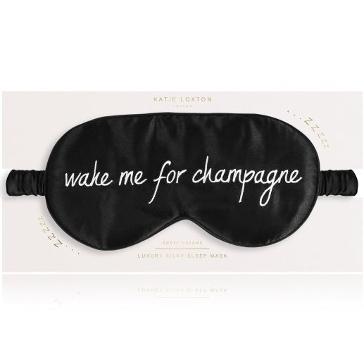 Wake Me Up For Champagne Satin Eye Mask