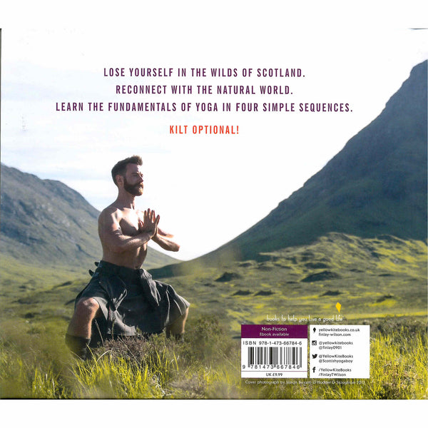 Kilted Yoga book by Finlay Wilson back cover