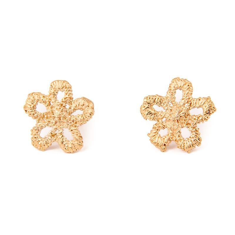 I Love A Lassie Jewellery Antique Lace Daisy Yellow Gold Stud Earrings