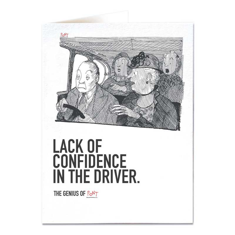 Lack Of Confidence In The Driver Greetings Card QP480