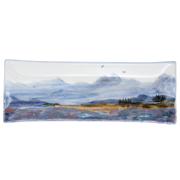 Highland Stoneware Landscape Plate Long Rectangle