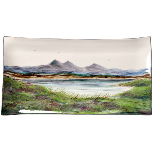 Highland Stoneware Landscape Plate Rectangle 42cm