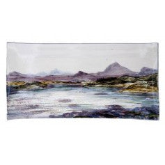 Highland Stoneware landscape rectangle plate