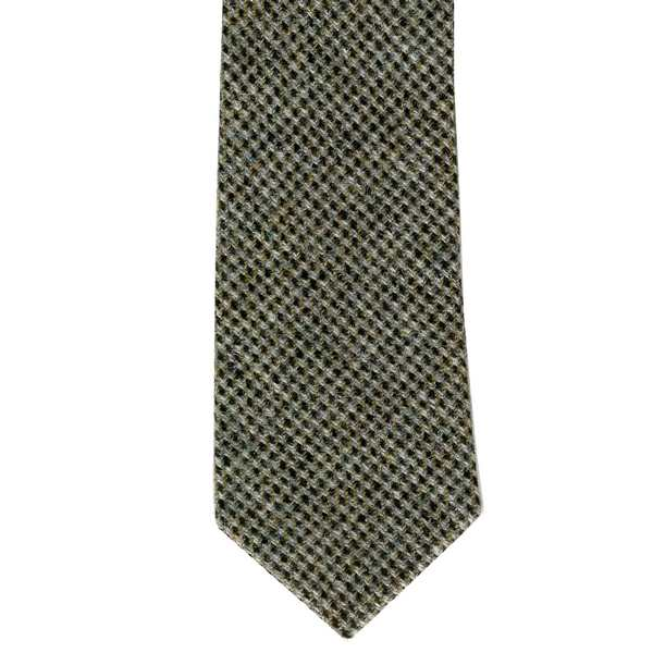 Leather Guild Gents Tie - Grey Islay Tweed