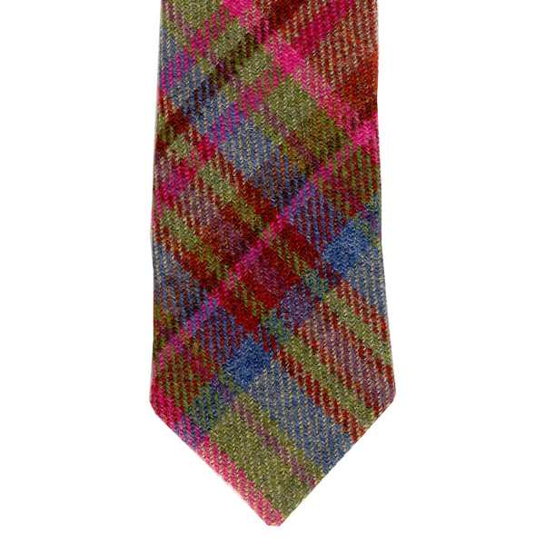Leather Guild Gents Tie - Pink Islay Tweed