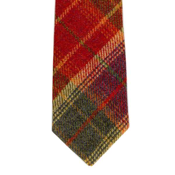 Leather Guild Gents Tie - Glen Red Islay Tweed