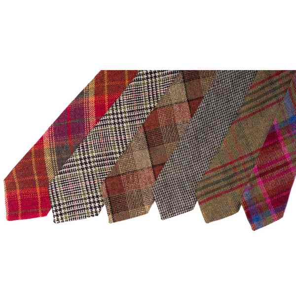 Leather Guild Islay Tweed Ties selection