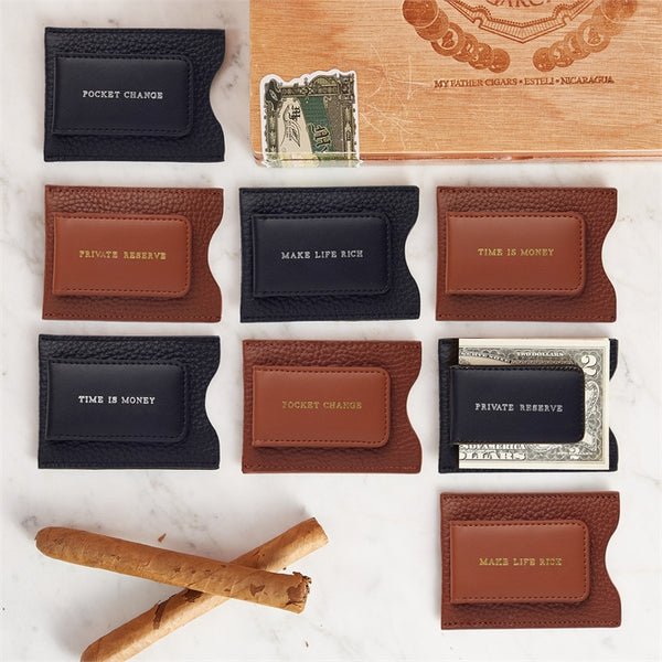 Leather Money Clip Wallet Selection