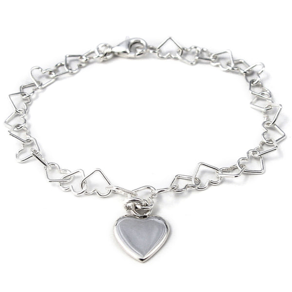 Linked Heart Bracelet with Heart