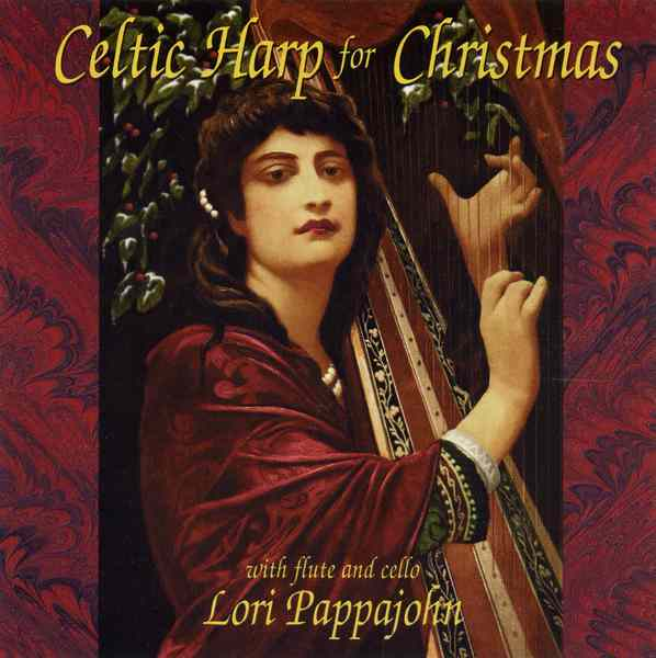 Lori Pappajohn - Celtic Harp For Christmas RECD522 CD front cover
