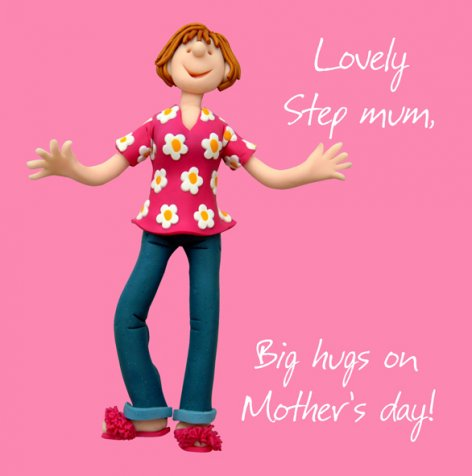 Lovely Step Mum Big Hugs On Mother's Day