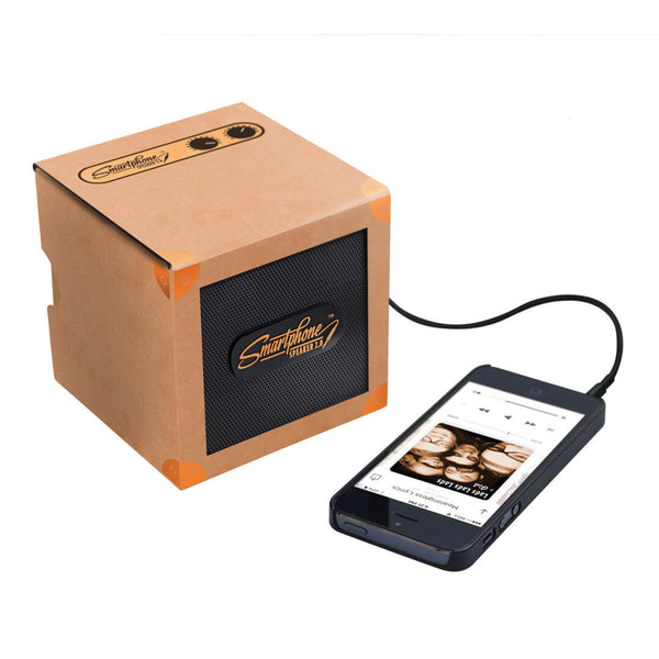 SmartPhone Speaker 2.0 Copper with phone (not included)