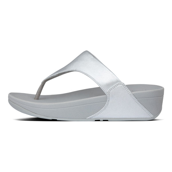 Lulu Leather Toe-Post Sandals Silver I88-011