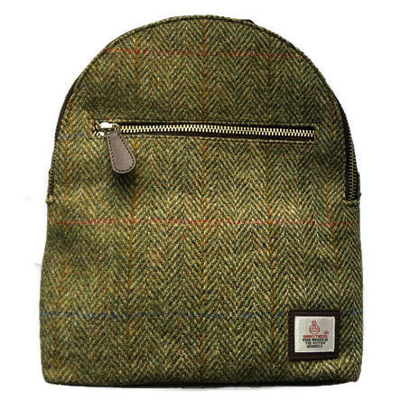 Maccessori Baby Backpack Country Green Harris Tweed front
