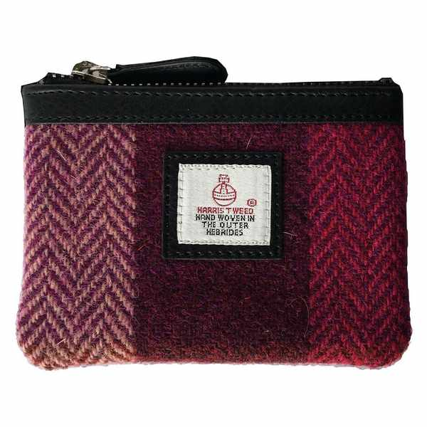 Maccessori Coin Purse Pink Squares Tweed front