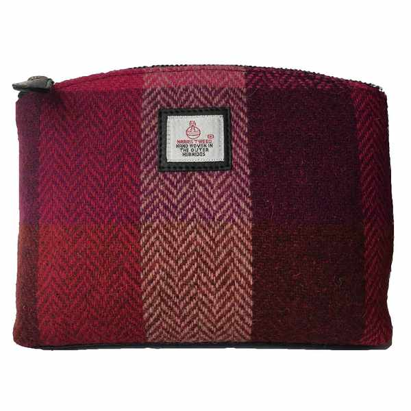 Maccessori Cosmetics Bag Pink Squares Tweed front
