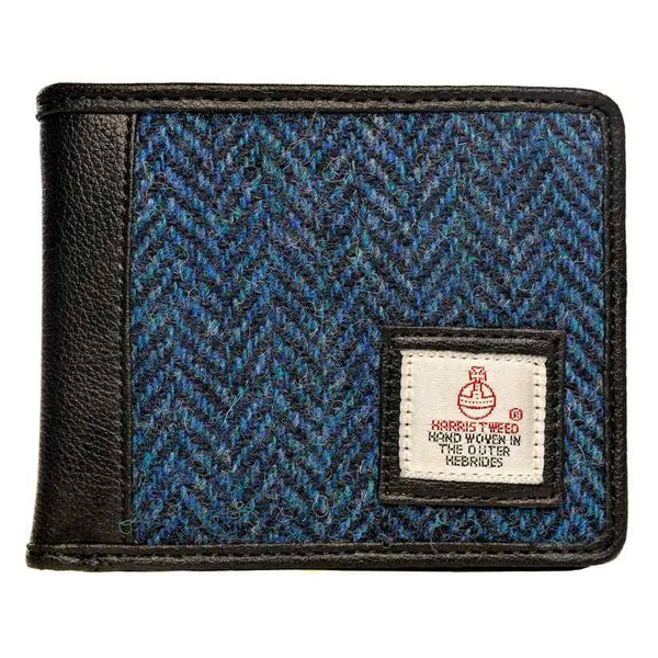 Maccessori Harris Tweed Bifold Wallet Blue CB2990-SP516 front