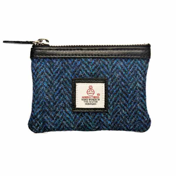 Maccessori Harris Tweed Coin Purse Blue front