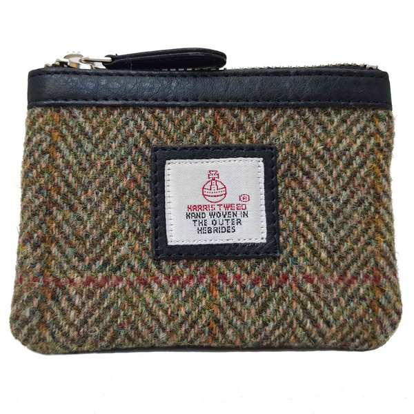 Maccessori Harris Tweed Coin Purse Country Green front