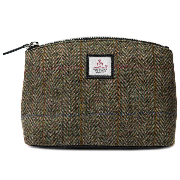 Maccessori Harris Tweed Cosmetics Bag Country Green front