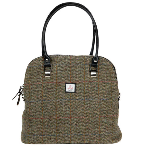 Maccessori Harris Tweed Large Bowling Bag Country Green
