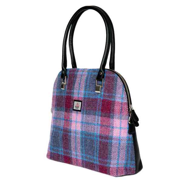 Maccessori Harris Tweed Large Bowling Bag Pastel Pink front