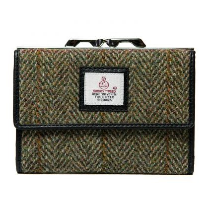Maccessori Harris Tweed Medium Clasp Purse Country Green front