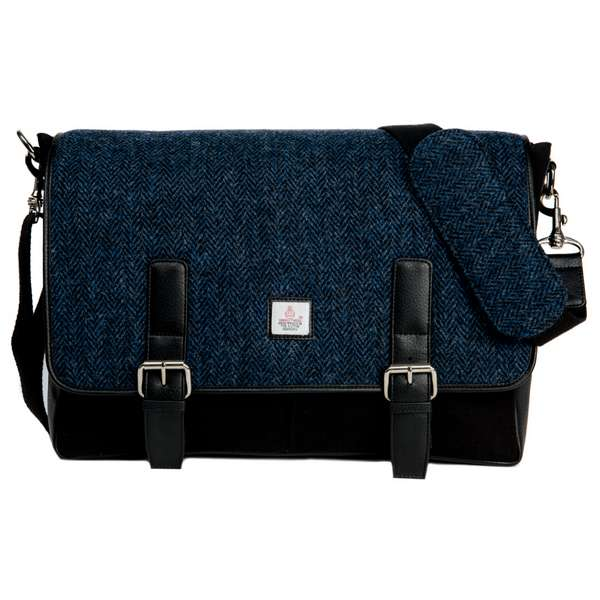Maccessori Harris Tweed Messenger Bag front