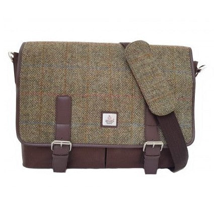 Maccessori Harris Tweed Messenger Bag Country Green front