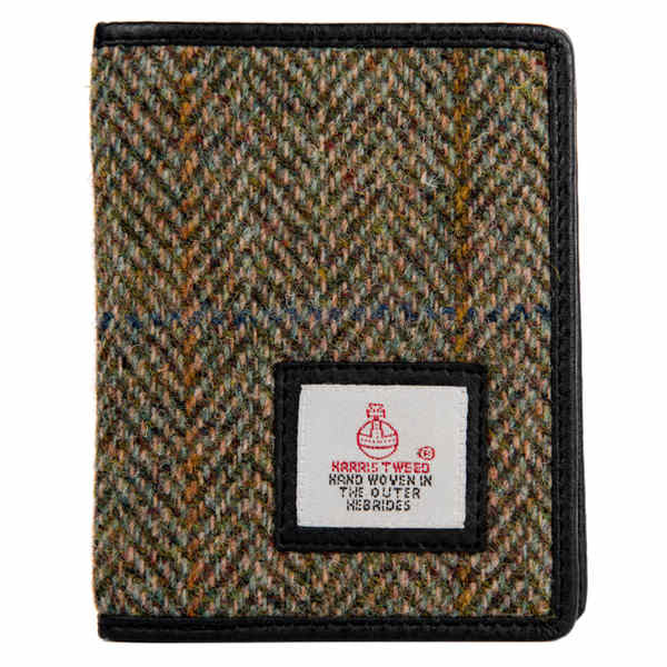 Maccessori Harris Tweed Slim Bi-fold Wallet Country Green front