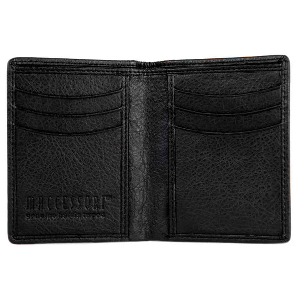 Maccessori Harris Tweed Slim Bi-fold Wallet Country Green inside