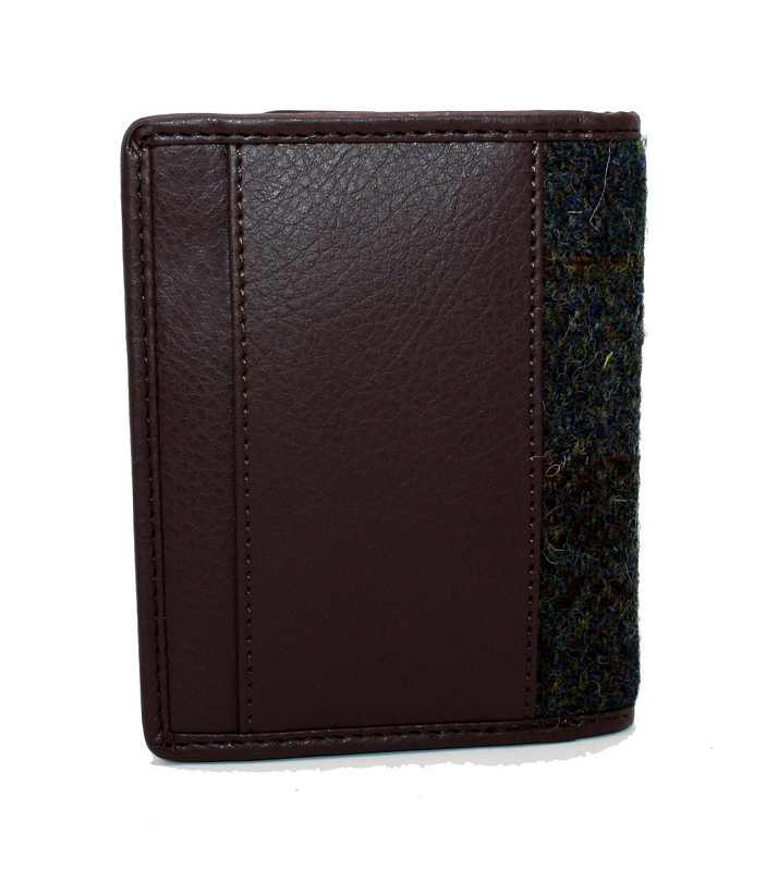 Maccessori Harris Tweed Slim Bifold Wallet Heather CB5008-HD505A5 back