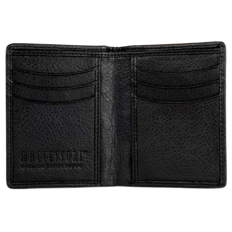 Maccessori Harris Tweed Slim Bifold Wallet Heather CB5008-HD505A5 open
