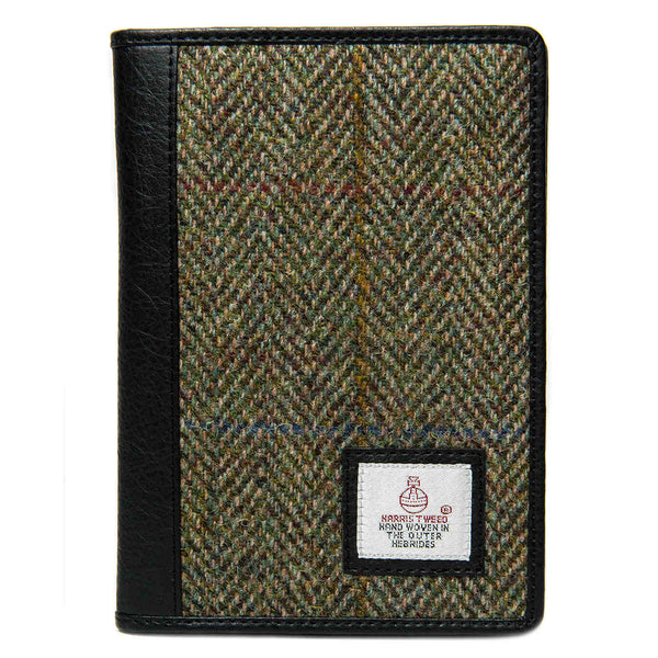 Maccessori Harris Tweed Travel Wallet Country Green front