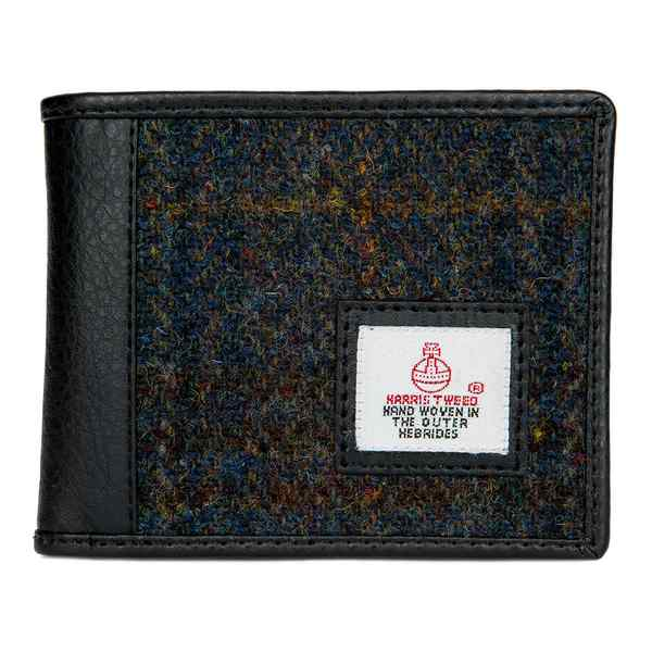 Maccessori Harris Tweed Tri-fold Wallet Heather front