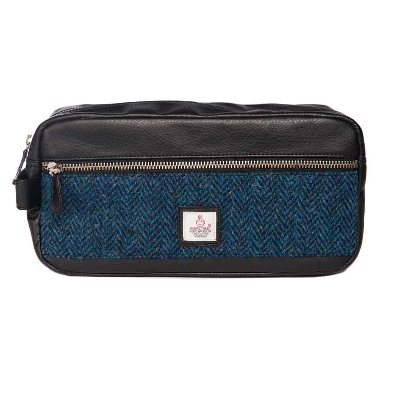 Maccessori Harris Tweed Wash Bag Blue CB3048-SP516 front
