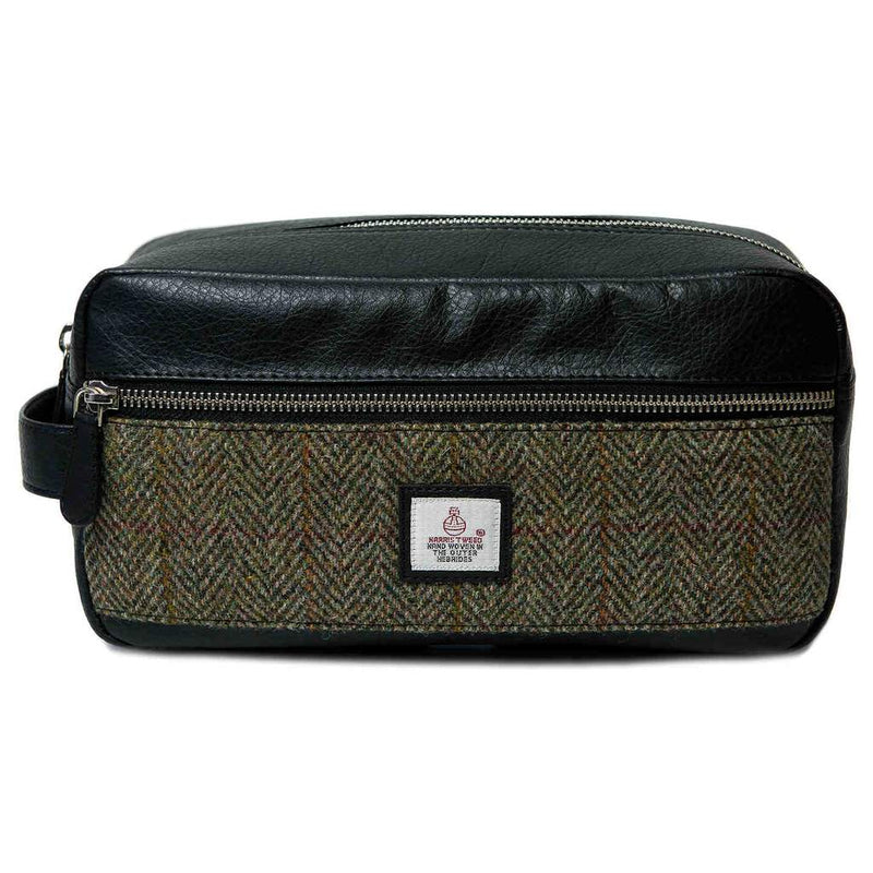 Maccessori Wash Bag Country Green Harris Tweed