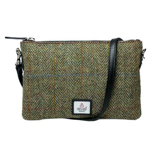 Maccessori Harris Tweed Zip-purse Bag Country Green front