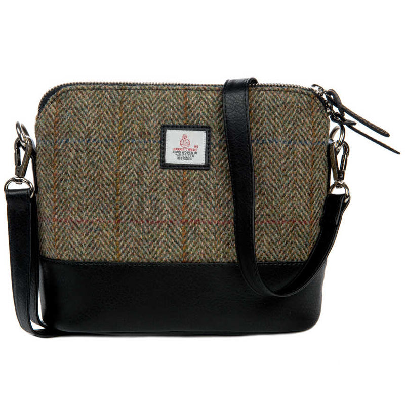 Harris Tweed Square Shoulder Bag Country Green