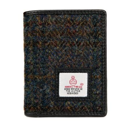 Maccessori Slim Bifold Harris Tweed Wallet Heather