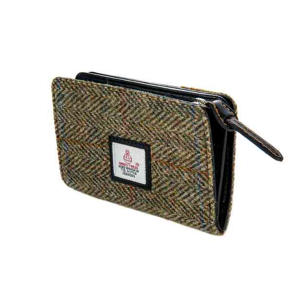 Maccessori Harris Tweed Zip Purse Country Green side