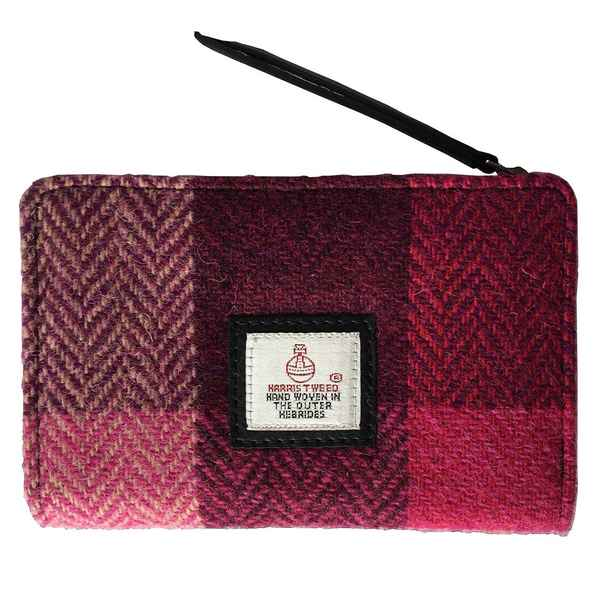 Maccessori Zip Purse Pink Squares Tweed front