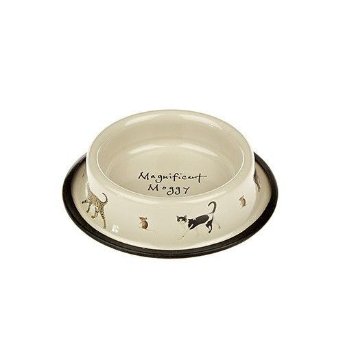 Magnificent Moggy Tinware Cat Bowl