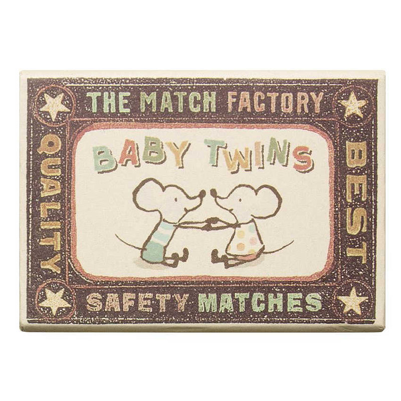 Maileg Baby Mice Twins in Box Matchbox front