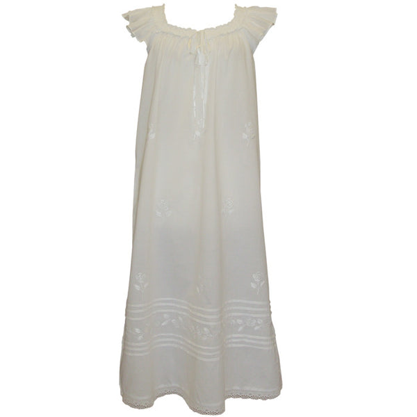 Margo Nightdress Capped Sleeves